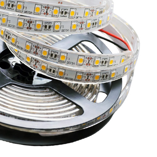 Single Row Series DC12/24V 5050SMD 300LEDs Flexible LED Strip Lights Waterproof IP67 Outdoor Use 16.4ft Per Reel By Sale